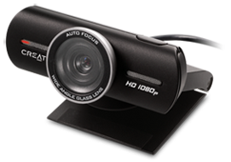 تصویر وب کم Full HD کریتیو مدل لایو کم اچ دی 1080 وب کم کریتیو LIVE CAM Socialize HD 1080 Webcam