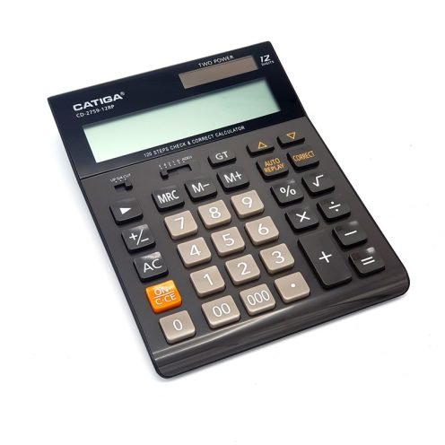 تصویر ماشین حساب رومیزی مدلCATIGA CD-2759-12RP