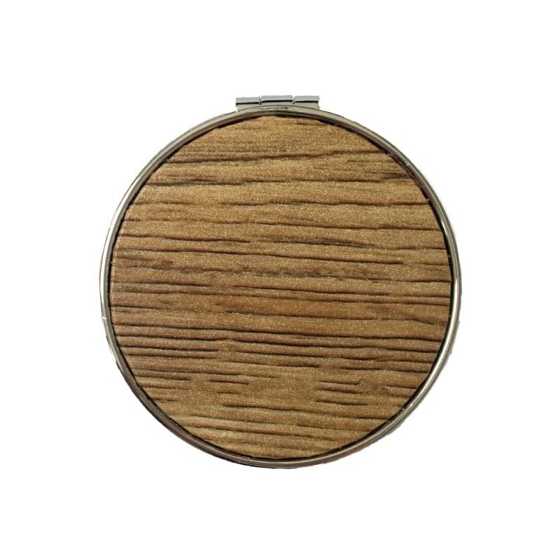 main images آینه گرد طرح چوب