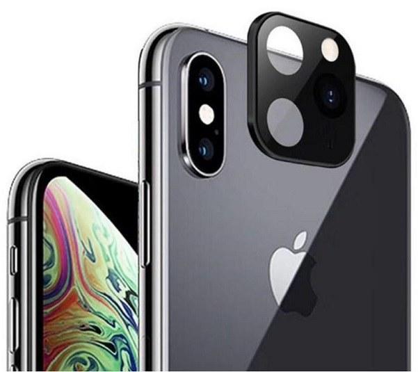 تصویر تبدیل لنز فلزی و محافظ دوربین موبایل اپل iPhone X / XS / XS Max Second Change to iPhone 11 Pro/ProMax
