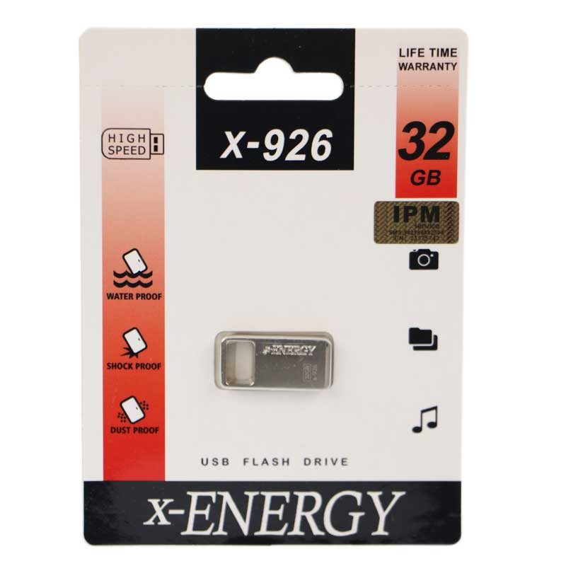 تصویر فلش مموری ایکس انرژی مدل X-926 با ظرفیت 32 گیگابایت X-energy X-926 32GB USB 2.0 Flash Memory