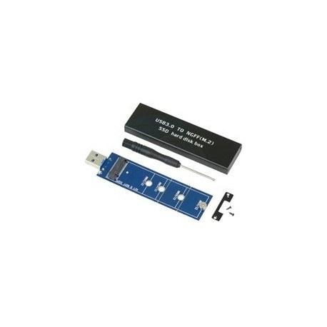 تصویر قاب اکسترنال حافظه اس اس دی M.2 به USB3.0 USB3.0 To M.2 NGFF SSD Hard Disk Box