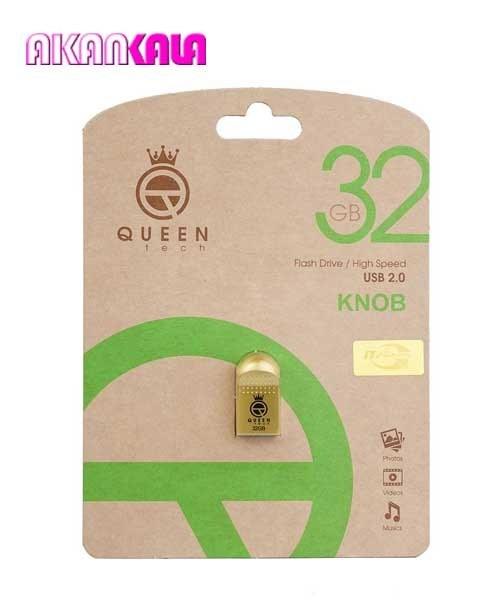 تصویر فلش ۳۲ گیگ Queen Tech مدل KNOB