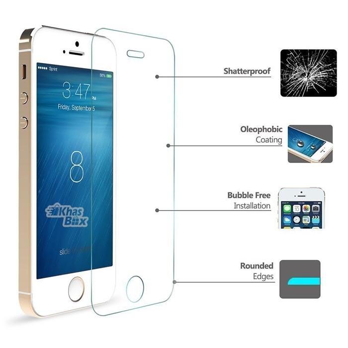 محافظ ضدضربه صفحه نمایش (گلس) اپل آیفون 5/5S/5C/SE