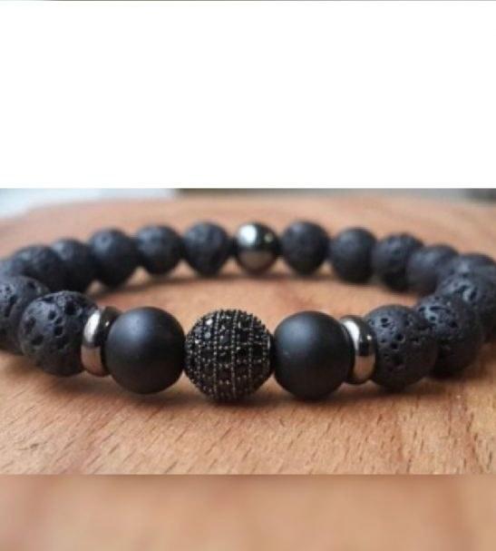 دستبند سنگ لاوا