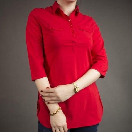 شومیز قرمز دخترانه