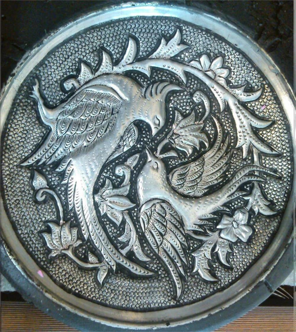 تصویر تابلو قلم زنی طرح دو پرنده ا Panel embossing designs two birds Panel embossing designs two birds