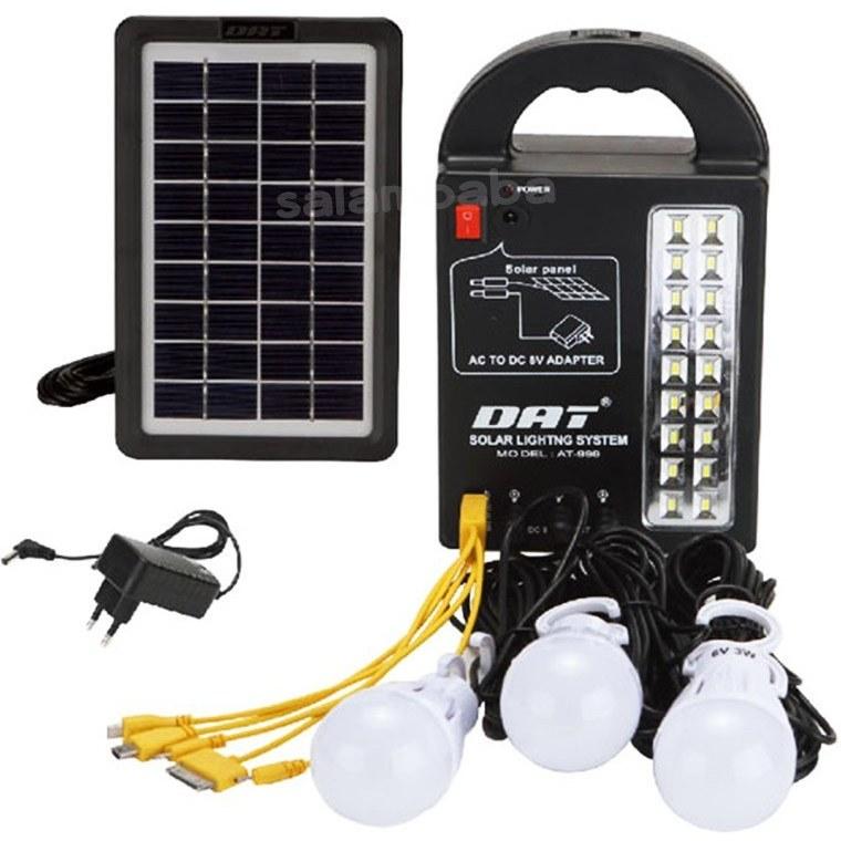 تصویر سیستم روشنایی خورشیدی چند کاره AT-999