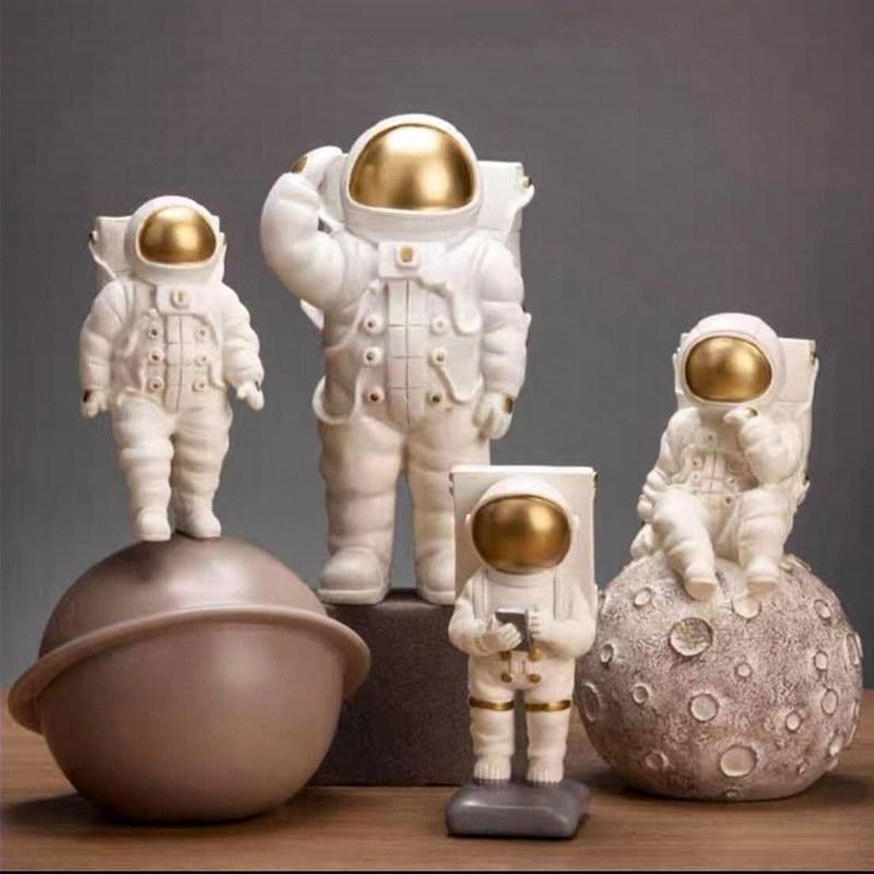 ست مجسمه طرح فضانورد مدل mhp1231 مجموعه 4 عددی