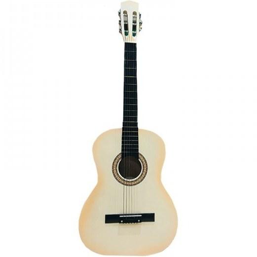 تصویر گیتار چوبی بزرگ کودک رنگ کرم مدل 2245