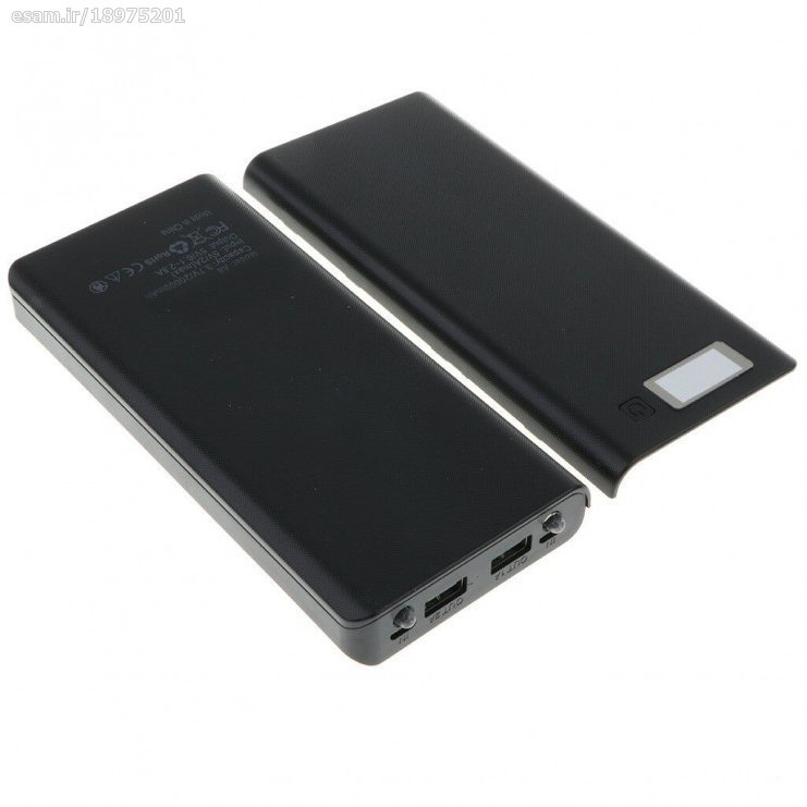 main images کیس پاوربانک 30000mAh دوخروجی USB به همراه نمایشگر