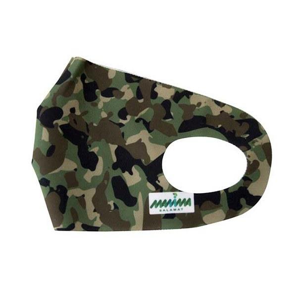 تصویر ماسک پارچه ای طرح ارتشی مانیما سلامت [قابل شستشو]