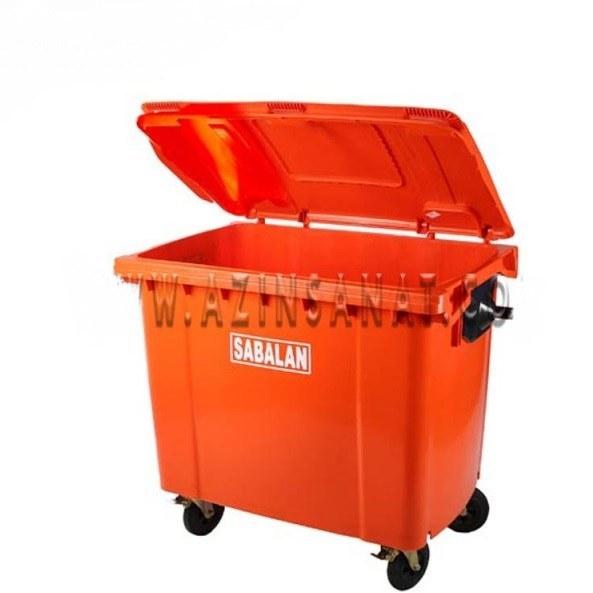 تصویر مخزن زباله پلی اتیلن 1100 لیتری