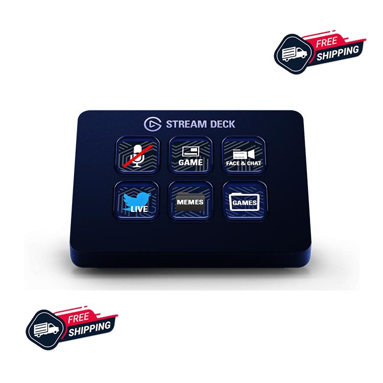 تصویر کنترلر تولید محتوا الگاتو Stream Deck Mini ا elgato Stream Deck Mini Controler elgato Stream Deck Mini Controler