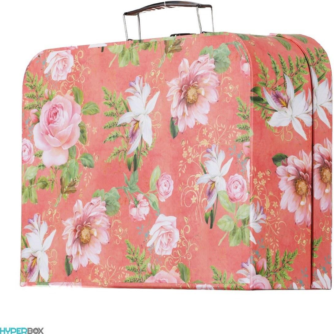تصویر جعبه هدیه چمدانی طرح Flower