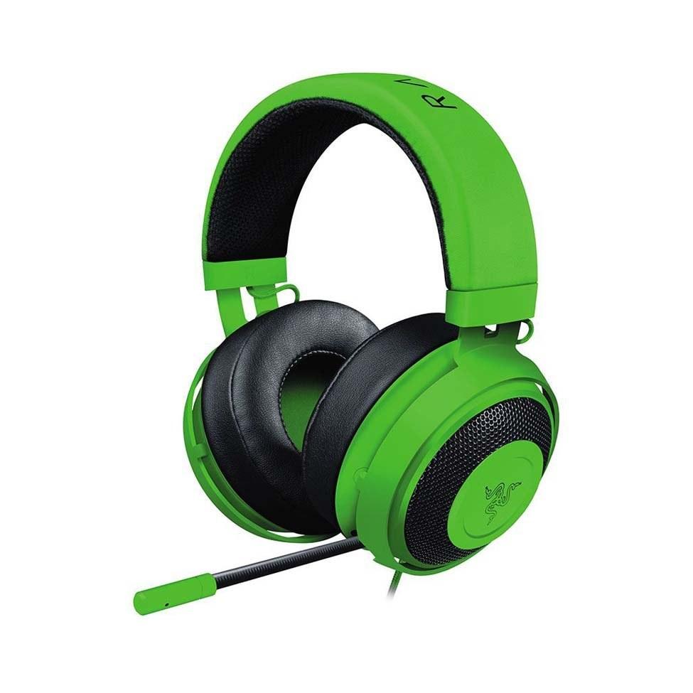 تصویر Razer Kraken Gaming Headset 2019 - [سبز] [قاب آلومینیومی سبک وزن] [میکروفن لغو نویز قابل شستشو] [برای PC، Xbox، PS4، Switch Nintendo] Razer Kraken Gaming Headset: Lightweight Aluminum Frame - Retractable Noise Isolating Microphone - For PC, PS4, Nintendo Switch - 3.5 mm Headphone Jack - Green