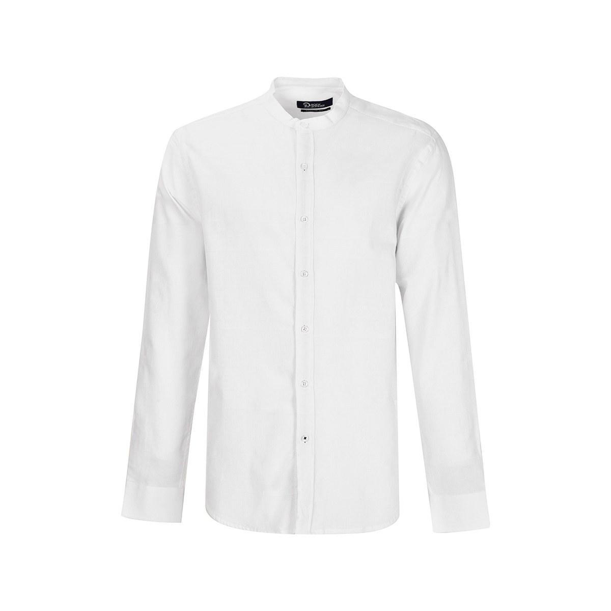 تصویر پیراهن مردانه آستین بلند یقه فرنچ
