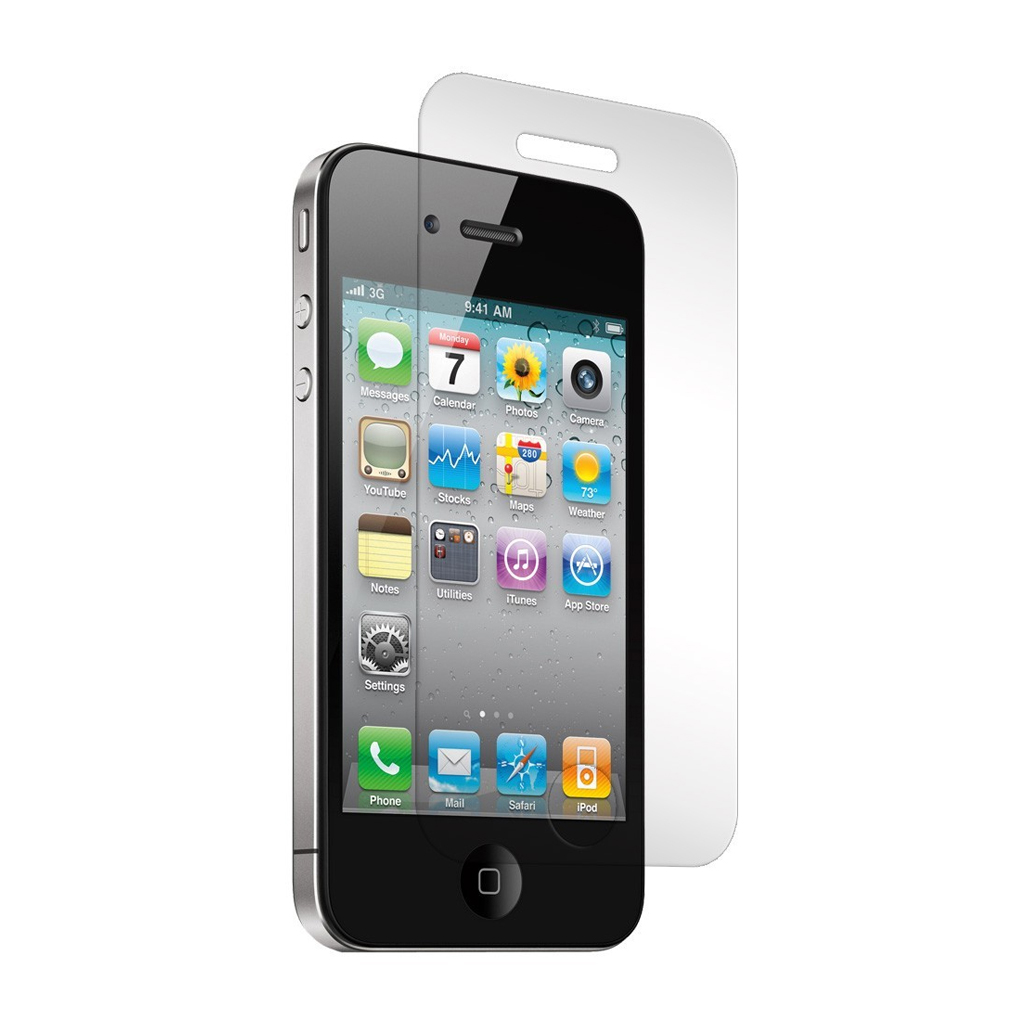 main images محافظ صفحه نمایش اپل آیفون 4/4S Glass Protector For Apple iphone 4/4S
