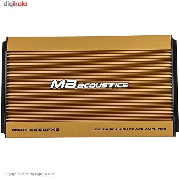 img آمپلی فایر خودرو ام بی آکوستیکس مدل MBA-6550FX2 MB Acoustics MBA-6550FX2 Car Amplifier