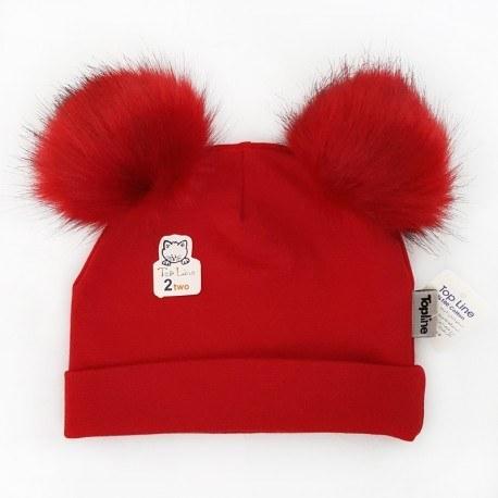 عکس کلاه پوم پوم دخترانه و پسرانه تاپلاین رنگ قرمز Topline  کلاه-پوم-پوم-دخترانه-و-پسرانه-تاپلاین-رنگ-قرمز-topline