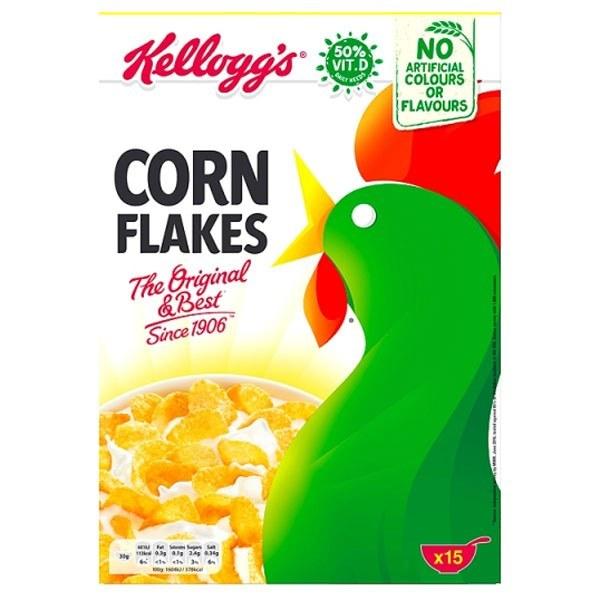 تصویر کورن فلکس غلات صبحانه کلاگز مدل خروس مقدار 450 گرم