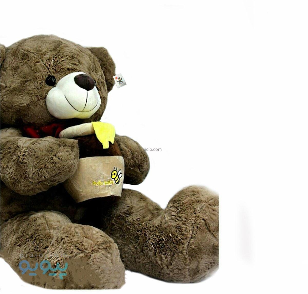 عروسک خرس بزرگ با ظرف عسل |