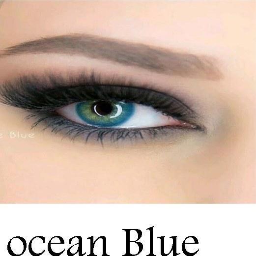 تصویر لنز رنگی چشم آبی اقیانوسی لاکی لوک مدل Ocean Blue ا Lucky Look Beauty Soft Contact Lenses BLUE1 Lucky Look Beauty Soft Contact Lenses BLUE1