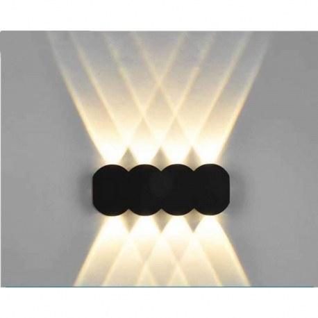 تصویر چراغ دیواری مدرن آلومینیوم ضد آب | لامپ دیوار داخلی 3000K نور گرم جهت بالا و پایین برای هتلها یارد حیاط درب باغ LED Wall Light