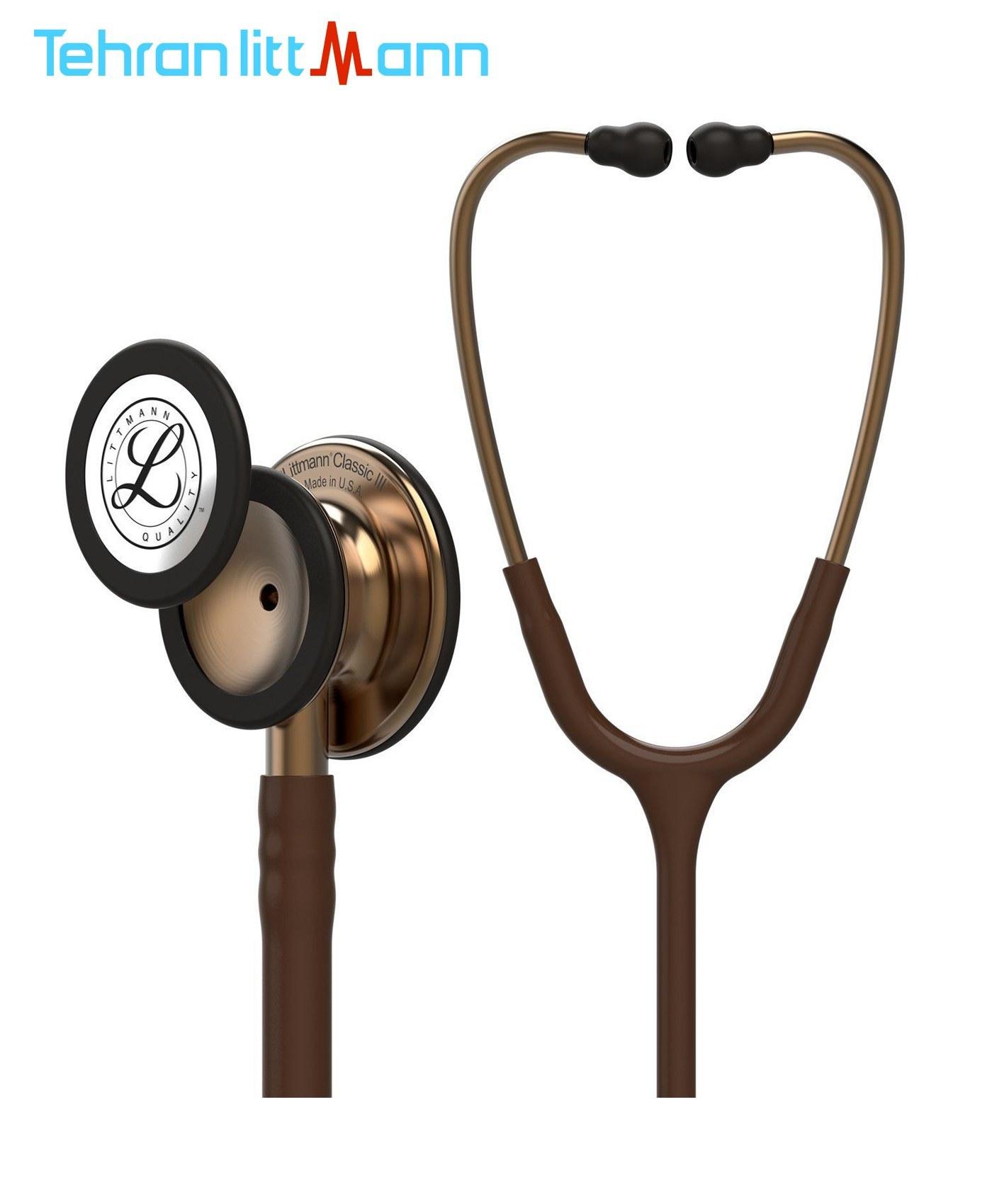 تصویر گوشی پزشکی لیتمن کلاسیک 3 شکلاتی مسی 5809 Littmann Classic III 5809 Stethoscope