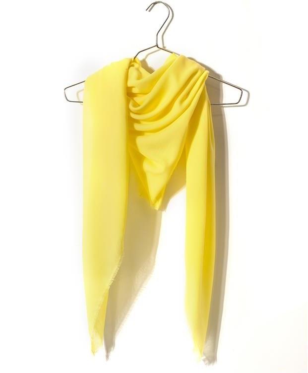 روسری زنانه سوپر نخ لیمویی Market Scarf
