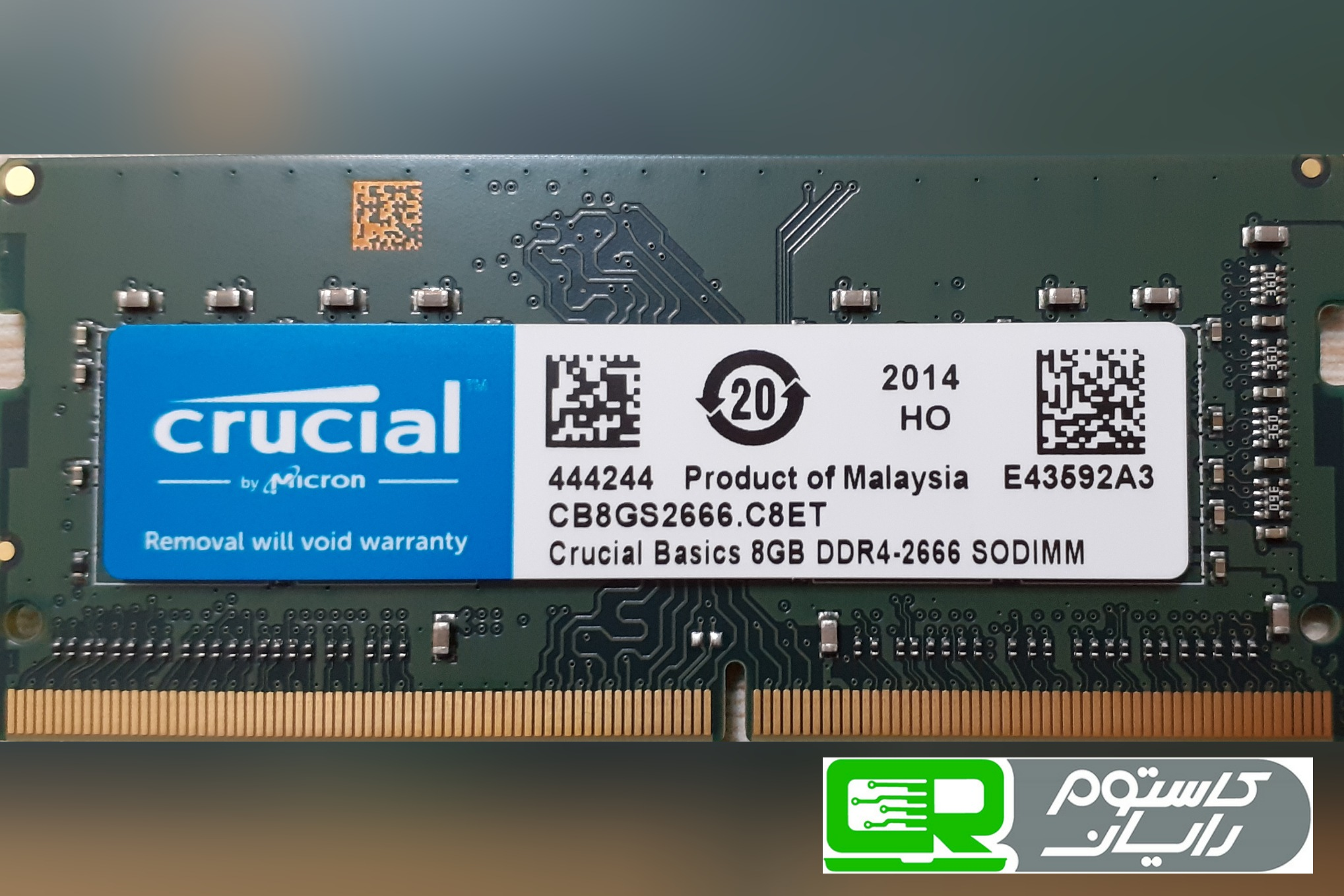 تصویر RAM Laptop Crucial 8GB DDR4-2666 RAM Laptop Crucial 8GB DDR4-2666