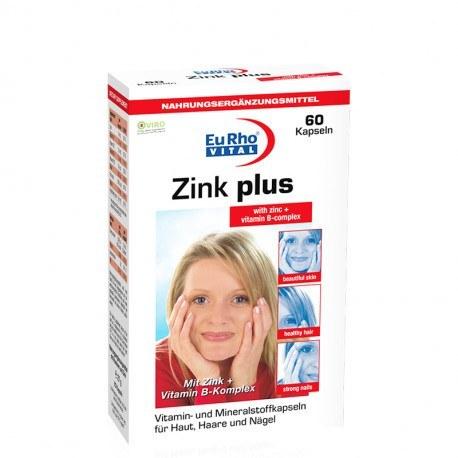 تصویر کپسول زینک پلاس یوروویتال 60 عدد EuRho Vital Zink Plus 5mg 60 Caps
