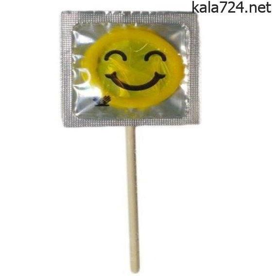 کاندوم آبنبات چوبی مدل ایموجی لبخند زرد |