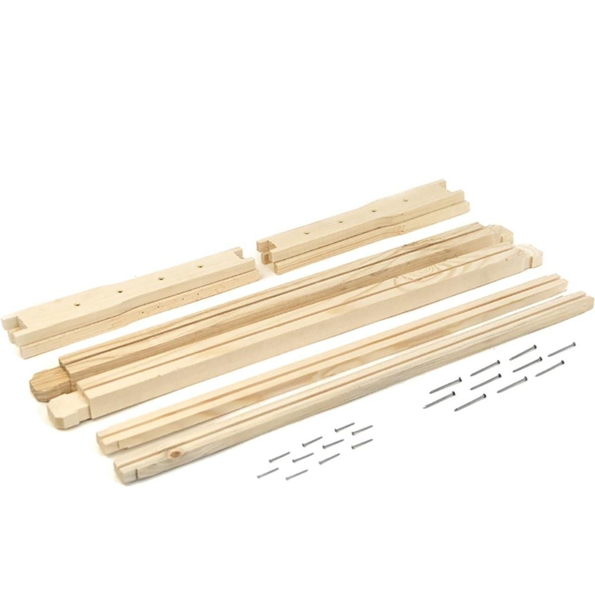 تصویر قاب چوبی بلند مونتاژ نشده هفت گوهر