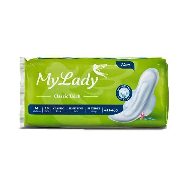 تصویر نوار بهداشتی بالدار مای لیدی مدل Classic Green سایز متوسط بسته 10 عددی ا May Laydy Classic Green Medium Sanitary Pad 10 Pcs May Laydy Classic Green Medium Sanitary Pad 10 Pcs