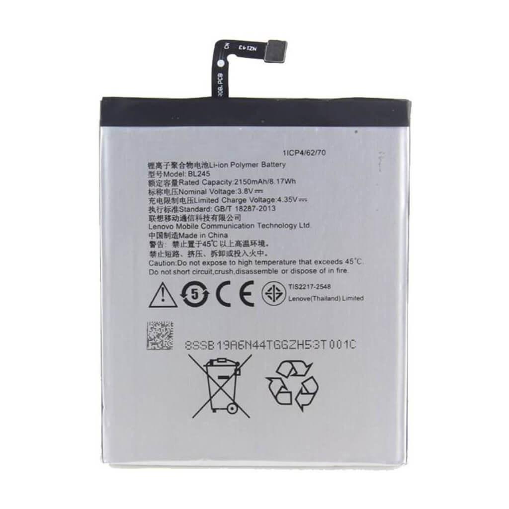 تصویر باتری لنوو Lenovo S60 مدل BL245 battery Lenovo S60 model BL245