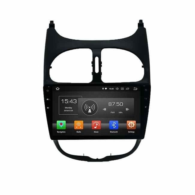 تصویر دستگاه پخش پژو 206 اندروید 9 اینچی Car DVD Android 9 Inch Peugeot 206