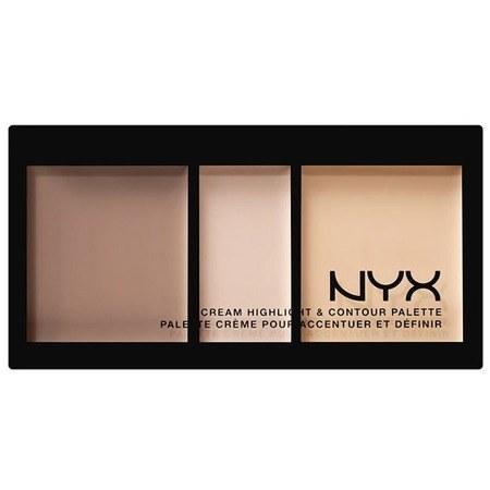 تصویر پالت هایلایتر و کانتور نیکس مدل Cream Highlight And Contour Palette