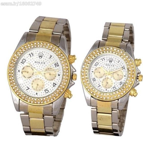 ست ساعت مردانه و زنانه Rolex | دارای نگین های درخشان ، قفل تاشو