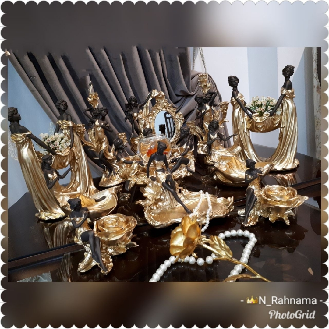 تصویر هفت سین پتینه طلایی کد ۱۰۱۲۸۶