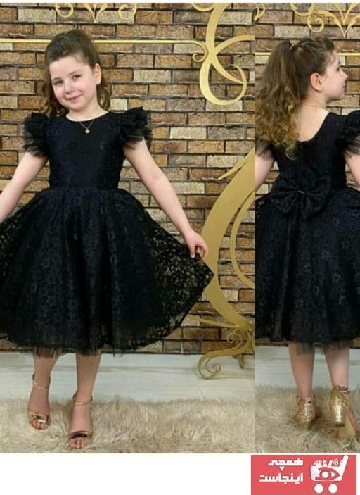 تصویر لباس مجلسی دخترانه با قیمت برند Pumpido رنگ مشکی کد ty104526306