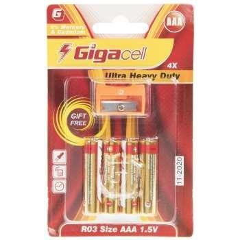 عکس باتری نیم قلمی گیگاسل مدل Ultra Heavy Duty بسته 4 عددی Gigacell Ultra Heavy Duty AAA Battery Pack of 4 باتری-نیم-قلمی-گیگاسل-مدل-ultra-heavy-duty-بسته-4-عددی