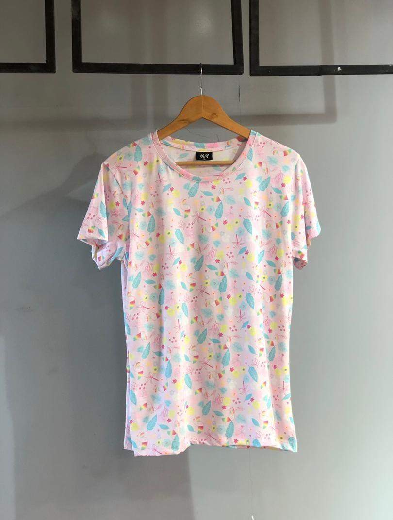 تصویر تی شرت نخ پنبه عالی مارکH,M  کد  1298