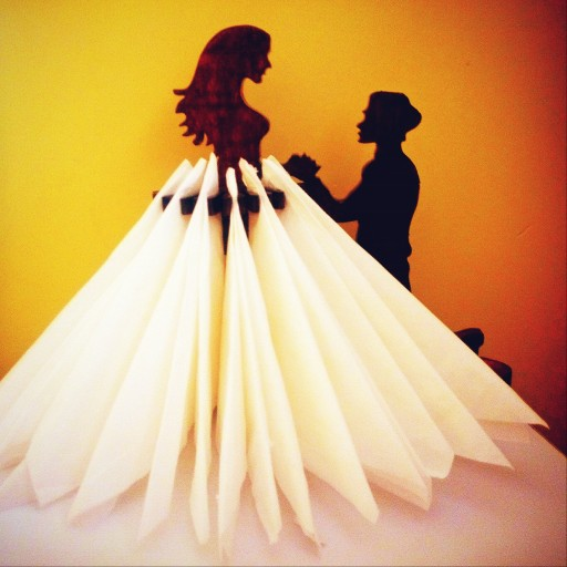 جا دستمال کاغذی طرح عروس |