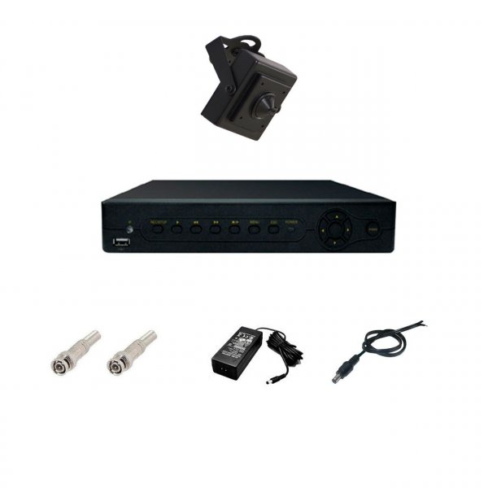 پک کامل سیستم نظارتی دوربین مداربسته 1 دوربین لنز سوزنی SX4001A | sx4001a syntax security system
