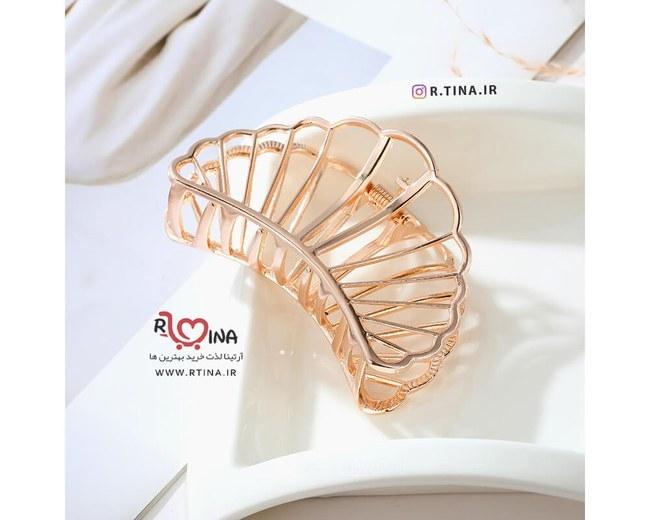 عکس کلیپس مو فلزی مینیمال مدل صدف دریایی  کلیپس-مو-فلزی-مینیمال-مدل-صدف-دریایی