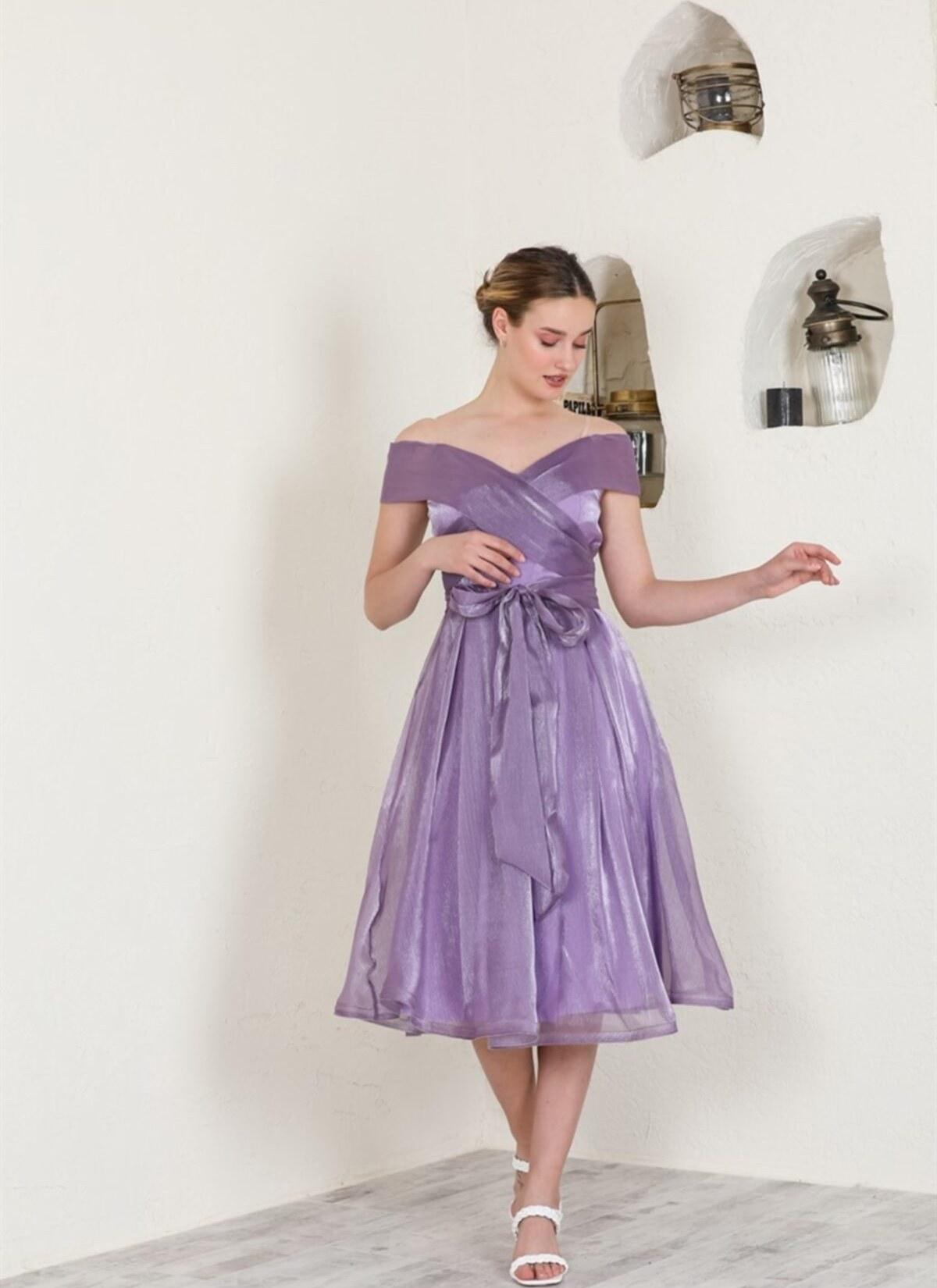 تصویر لباس مجلسی جدید برند Livanomi رنگ بنفش کد ty118110676