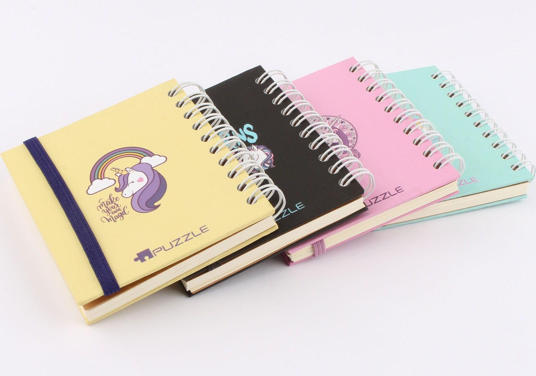 دفترچه یادداشت سیمی اسب تک شاخ (رنگبندی)