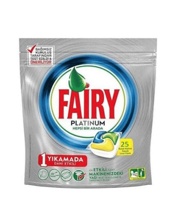 قرص ماشین ظرفشویی فیری مدل پلاتینیوم بسته 25 عددی | Fairy Platinum Original DishWasher Tablets 25 Tablets