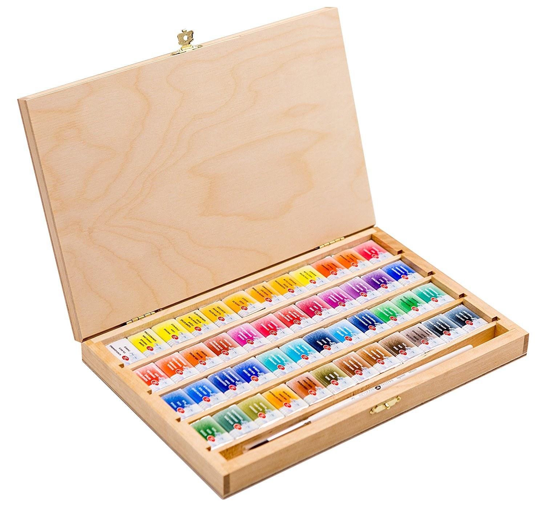 آبرنگ سن پترزبورگ ۴۸ رنگ جعبه چوبی |